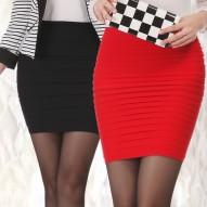 Falda de mujer, cintura alta .