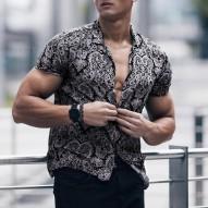 Camisa de hombre de Feitong...
